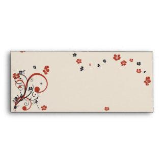 Swirls & Flowers Elegant Wedding Envelope