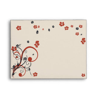 Swirls & Flowers Elegant Wedding Envelopes
