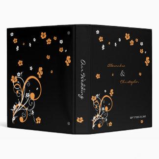 Swirls & Flowers Elegant Wedding Planner Album 3 Ring Binder