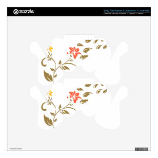 swirls flowers PS3 controller decal
