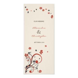 Swirls & Flowers Wedding Announcement