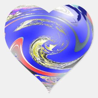 SWIRLS HEART STICKER