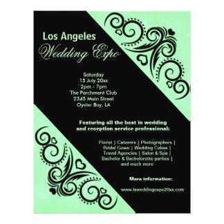 Swirls Heart Wedding Expo (Green) Flyer