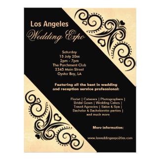 Swirls Heart Wedding Expo (Orange) Flyer