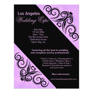 Swirls Heart Wedding Expo (Purple) Flyer