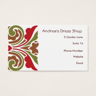 Swirls in Baroque Colors Business Card