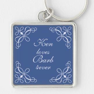 Swirls in Blue Key Chain