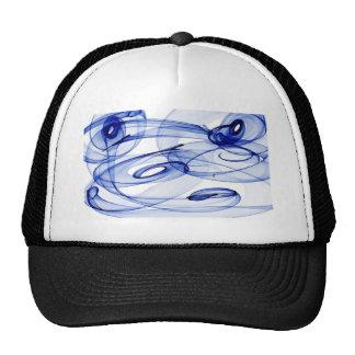 swirls in blue trucker hat