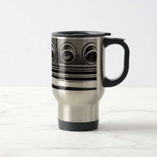Swirls in bw travel mug