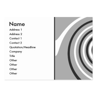 Swirls in Gray and White. Spiral Design. Business Cards