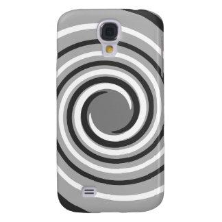 Swirls in Gray and White. Spiral Design. Galaxy S4 Case