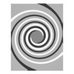 Swirls in Gray and White. Spiral Design. Personalized Letterhead