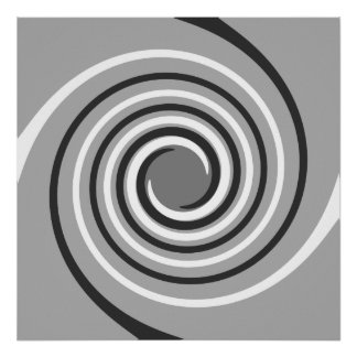 Swirls in Gray and White. Spiral Design. Print