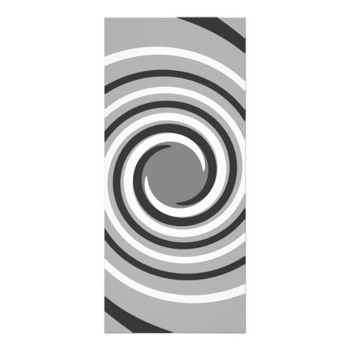 Swirls in Gray and White. Spiral Design. Full Color Rack Card