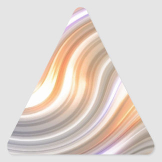 Swirls in Motion Triangle Stickers