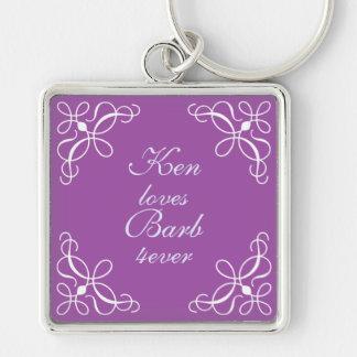 Swirls in Purple Key Chain