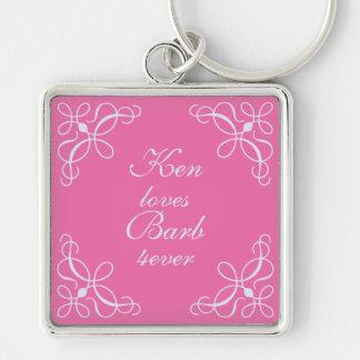 Swirls Key Chain in Candy Pink