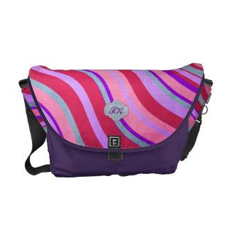 Swirls Monogrammed - Customize Messenger Bag