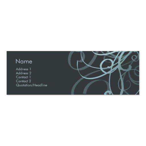 Swirls No. 0007 Mini Business Card