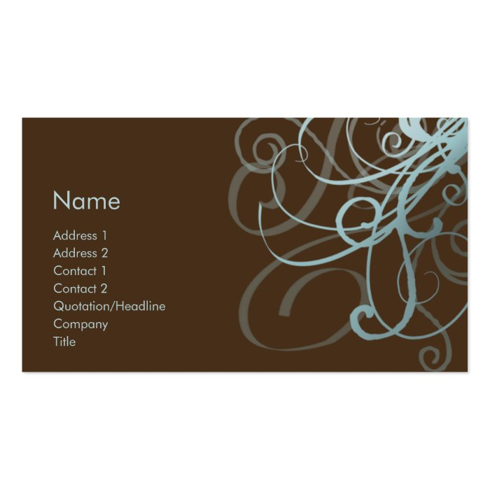 Swirls No. 0009 Business Card