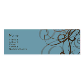 Swirls No. 0014 Business Card Template