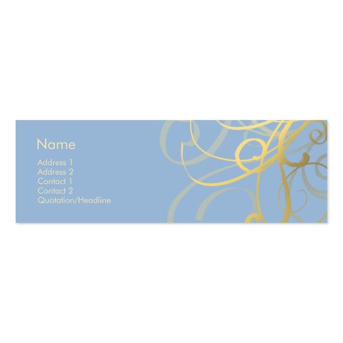 Swirls No. 0020 Mini Business Card