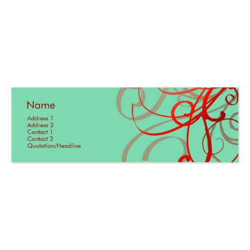 Swirls No. 0024 Mini Business Card