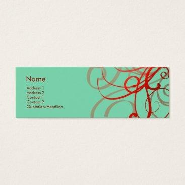 Professional Business Swirls No. 0024 Mini Business Card