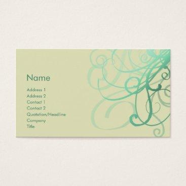 Professional Business Swirls No. 0027 Business Card