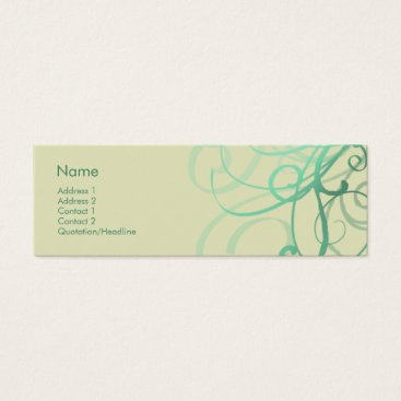 Professional Business Swirls No. 0027 Mini Business Card