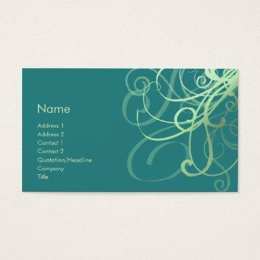 Professional Business Swirls No. 0032 Business Card