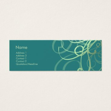 Professional Business Swirls No. 0032 Mini Business Card