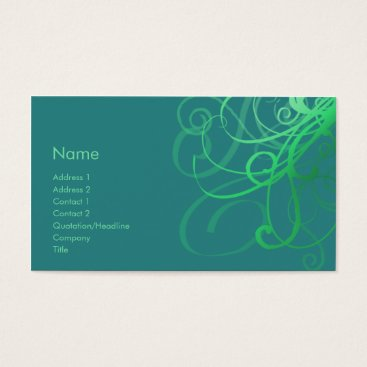 Professional Business Swirls No. 0033 Business Card