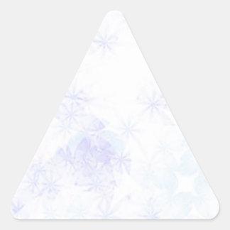 Swirls of blue, pink, and green triangle sticker