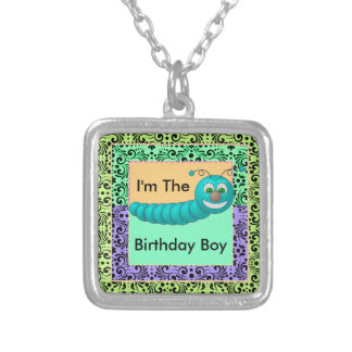 Swirls Of Color Birthday Worms Silver Plated Necklace