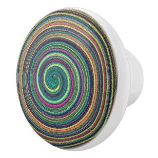 Swirls of Color Ceramic Drawer/Cabinet Knob Ceramic Knob