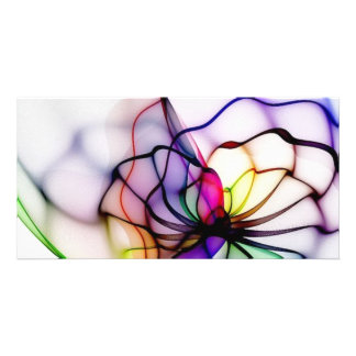 Swirls of Colors Customized Photo Card
