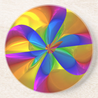 Swirls of Golden Color Pattern Drink Coaster