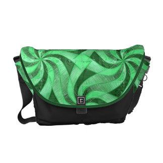 Swirls of Green Courier Bag