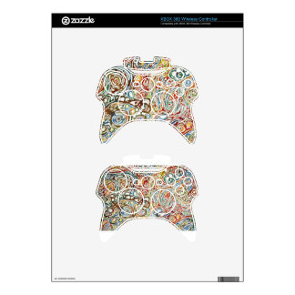 Swirls of Happiness Xbox 360 Controller Decal