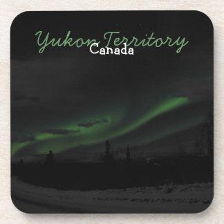 Swirls of Light; Yukon Territory Souvenir Coaster