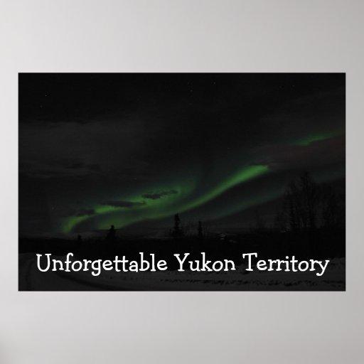Swirls of Light; Yukon Territory Souvenir Poster