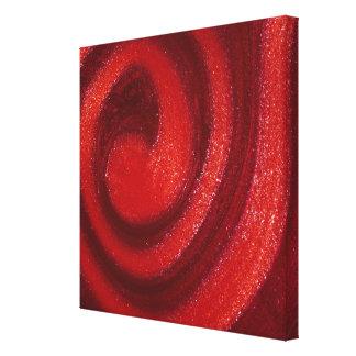 Swirls of nail polish canvas print