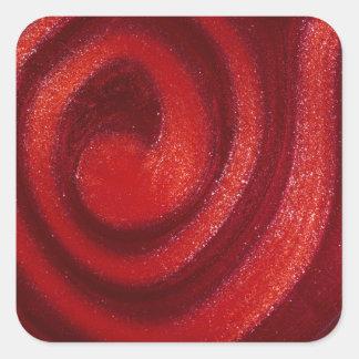 Swirls of nail polish sticker