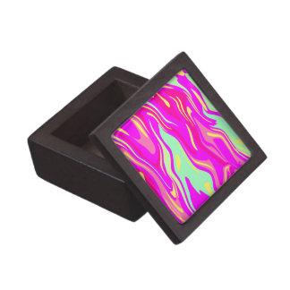 Swirls of Pink, Magenta, Mint Green and Yellow Keepsake Box