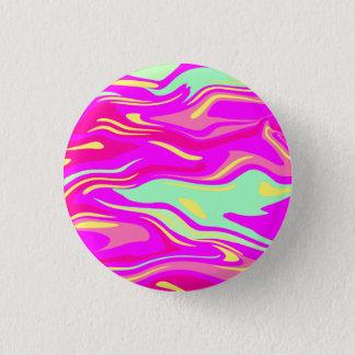Swirls of Pink, Magenta, Mint Green and Yellow Pinback Button