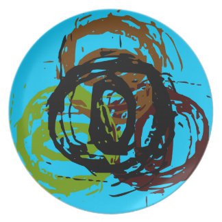 """Swirls of Thought ~ Dining Plate 10"""" Non-Toxic"""