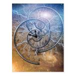 Swirls of Time Postcard