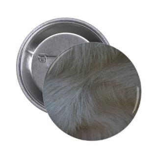 Swirls of white goat hair pattern pinback button