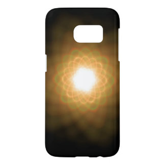 Swirls of Yellow Light on Black Samsung Galaxy S7 Case